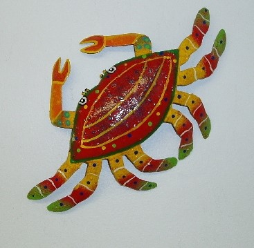 16in Red Crab Wall Decor
