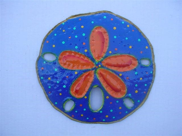 13in Blue Sand Dollar Wall Accent