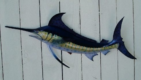 28in Blue Marlin Wall Decor