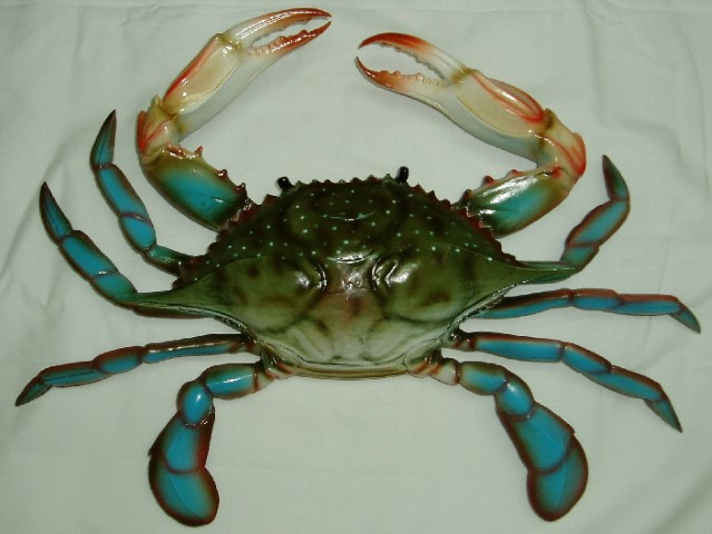 10in Blue Crab Decor