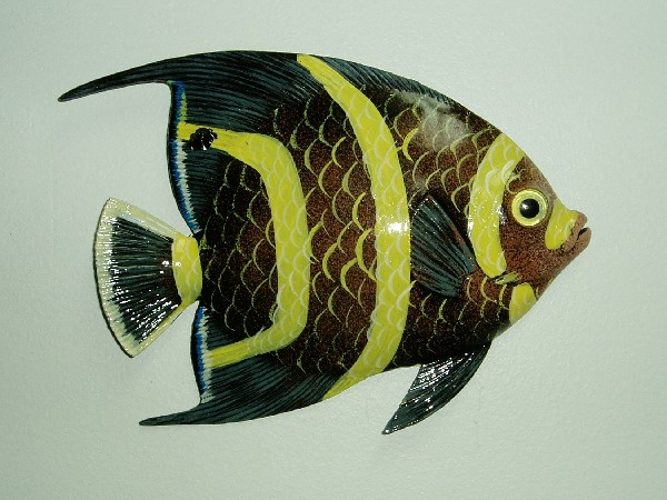 12in French Angel Fish Wall Decor