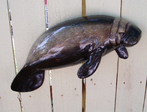 28in Manatee Resin Wall Decor