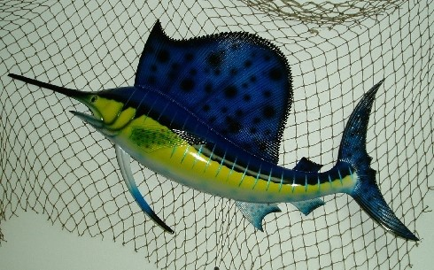 28in Sailfish Wall Decor