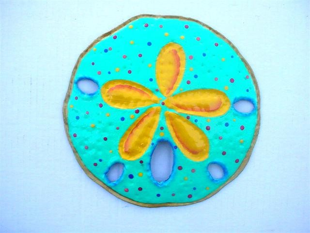 18in Teal Sand Dollar Wall Accent
