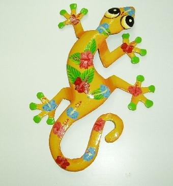 18in Kala Metal Gecko Wall Decor - Gecko Wall Art - Metal Geckos [PH ...