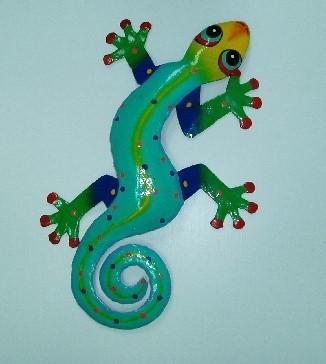 18in Kenny the Gecko Art -gecko wall decor- metal geckos [PH ...