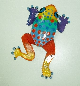 8in Multi Colored Spotted Dancing Frog Wall decor [PH-A910S-07 ...