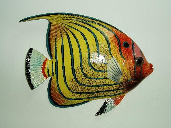 15in Blue Stripe Tropical Fish Wall Decor & 15in Blue Stripe Tropical Fish Wall Decor Fish Wall Art [PH-15TFWBS ...