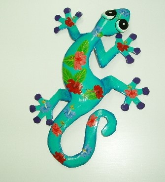 18in Paulo Metal Gecko Wall Decor - Gecko Wall Art - Gecko Decor ...